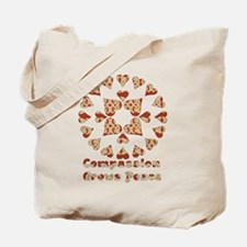 Compassion Grows Peace Tote Bag