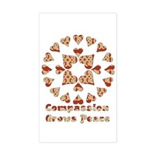 Compassion Grows Peace Rectangle Decal