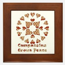 Compassion Grows Peace Framed Tile