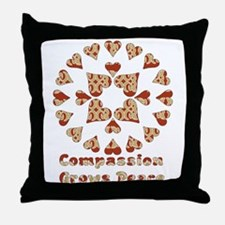 Compassion Grows Peace Throw Pillow