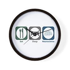 Eat Sleep Neuroscience Wall Clock