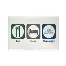 Eat Sleep Neurology Rectangle Magnet
