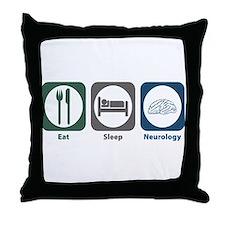 Eat Sleep Neurology Throw Pillow