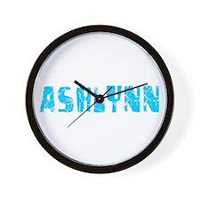 Ashlynn Faded (Blue) Wall Clock