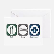 Eat Sleep Nephrology Greeting Card