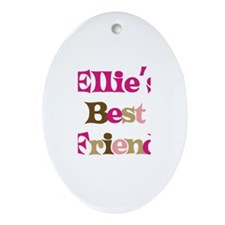Ellie's Best Friend Oval Ornament