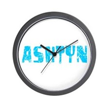 Ashtyn Faded (Blue) Wall Clock