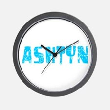 Ashtyn Faded (Blue) Wall Clock