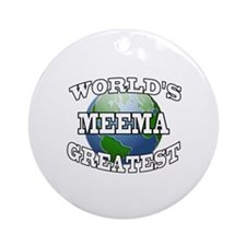 WORLD'S GREATEST MEEMA Ornament (Round)
