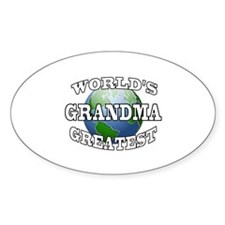 WORLD'S GREATEST GRANDMA Oval Decal
