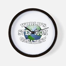 WORLD'S GREATEST STEP MOM Wall Clock