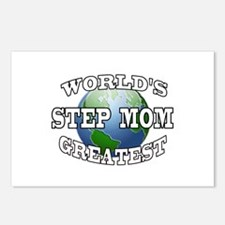 WORLD'S GREATEST STEP MOM Postcards (Package of 8)
