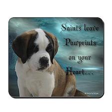 St. Bernard puppy Mousepad