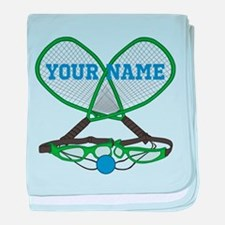 Personalized Racquetball baby blanket