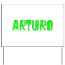 Arturo Faded (Green) Yard Sign