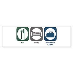 Eat Sleep Mountain Climb Bumper Sticker (10 pk)