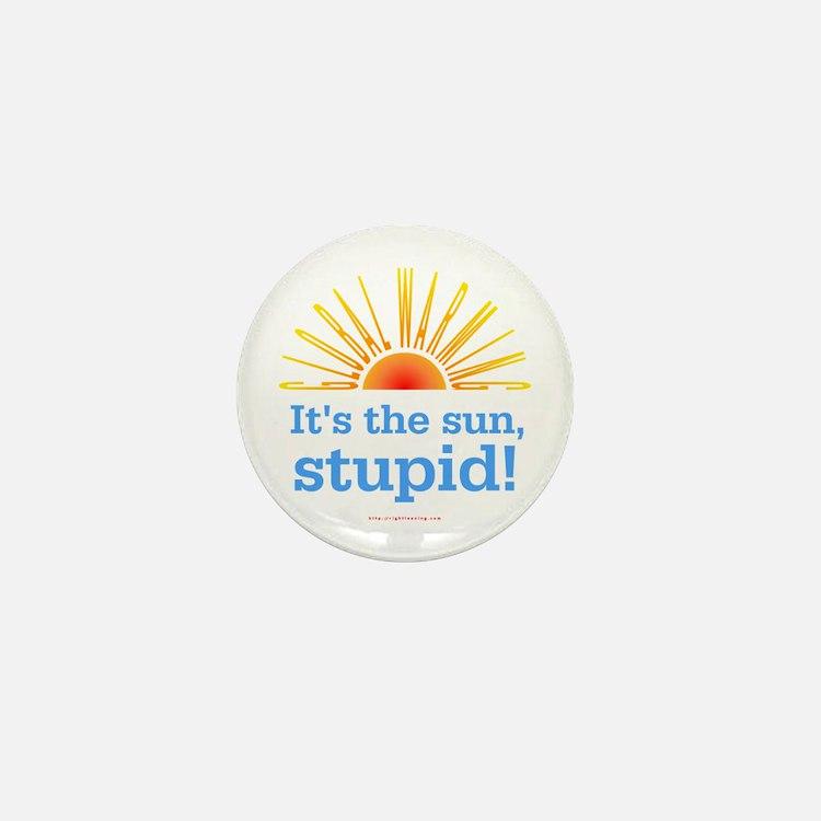 Global Warming Sun Mini Button