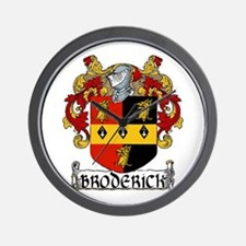 Broderick Coat of Arms Wall Clock