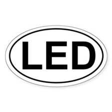 LED Oval Decal