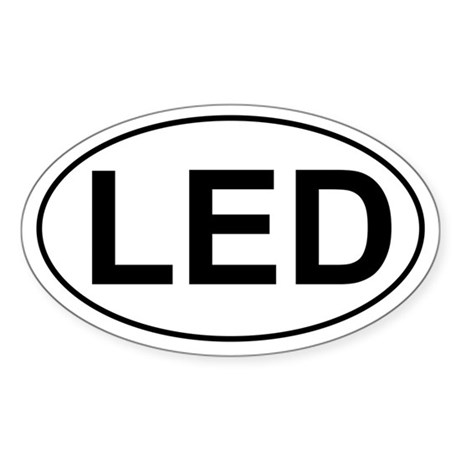 LED Oval Sticker