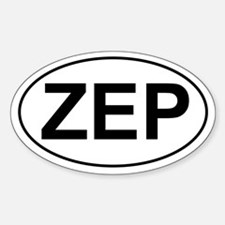 ZEP Oval Stickers