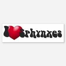 """""""I Love Sphynx!"""" Bumper Bumper Bumper Sticker"""