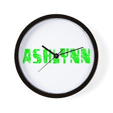 Ashlynn Faded (Green) Wall Clock