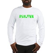 Ashlynn Faded (Green) Long Sleeve T-Shirt