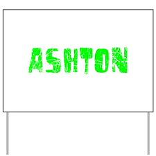 Ashton Faded (Green) Yard Sign