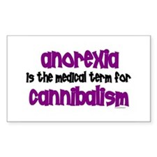 Medical Term 1.1 (Anorexia) Rectangle Bumper Stickers