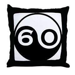 60th Birthday Throw Pillow