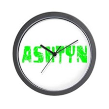 Ashtyn Faded (Green) Wall Clock