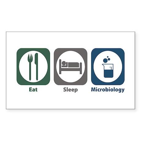 Eat Sleep Microbiology Rectangle Sticker
