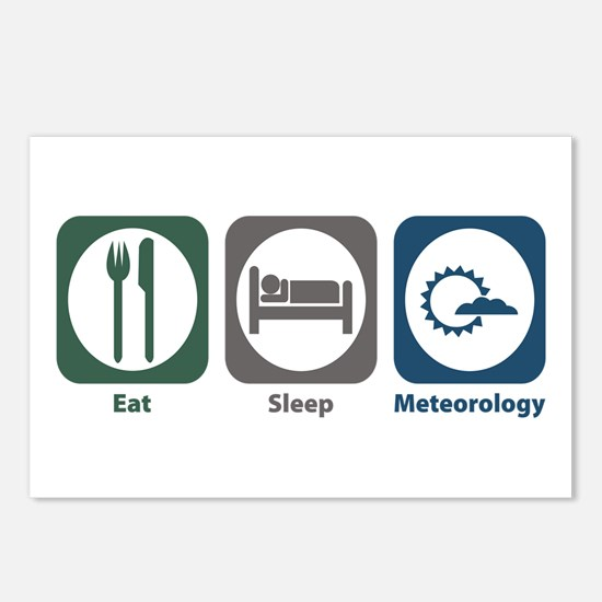 Eat Sleep Meteorology Postcards (Package of 8)
