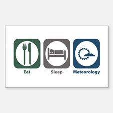 Eat Sleep Meteorology Rectangle Sticker 10 pk)