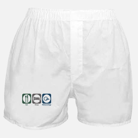 Eat Sleep Meteorology Boxer Shorts