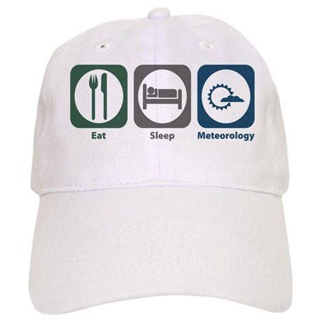 Eat Sleep Meteorology Cap