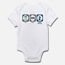 Eat Sleep Metal Working Infant Bodysuit
