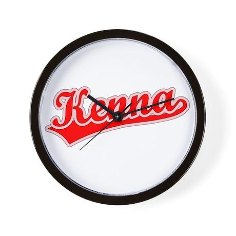 Retro Kenna (Red) Wall Clock