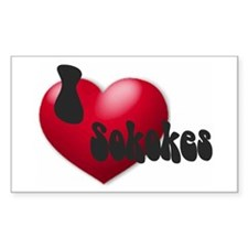 """I Love Sokokes!"" Rectangle Decal"
