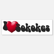 """I Love Sokokes!"" Bumper Bumper Bumper Sticker"