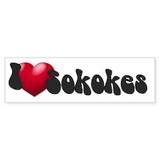 """""""I Love Sokokes!"""" Bumper Bumper Sticker"""