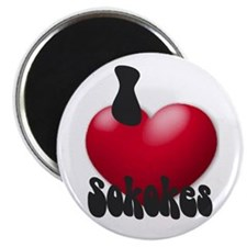 """""""I Love Sokokes!"""" Magnet"""