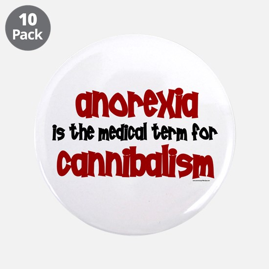 "Medical Term 1.3 (Anorexia) 3.5"" Button (10 pack)"