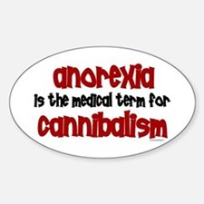 Medical Term 1.3 (Anorexia) Oval Bumper Stickers