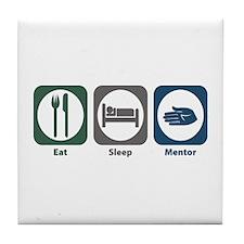 Eat Sleep Mentor Tile Coaster