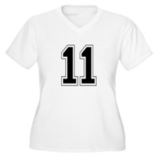 11 Womes Plus-Size V-Neck T-Shirt