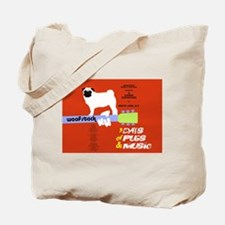 Unique Usa pug Tote Bag