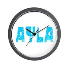 Ayla Faded (Blue) Wall Clock