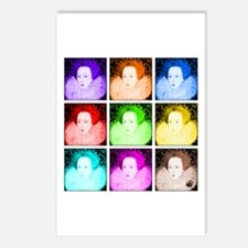 Pop Art Elizabeth I Postcards (Package of 8)